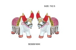 White Bullack Set ( Full Decorate), Size: 7x2.5 Inch