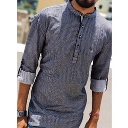 Mocki Chinese Collar Mens Kurta Shirt