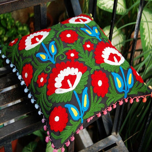 Designer Embroidery Cushion Cover