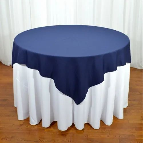 Blue White Plain Round Table Cover Rs, Round Table Cover