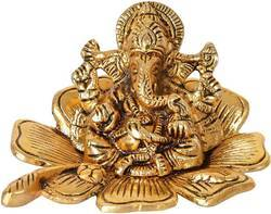 Gold Plated Decorative Ganesha Statue