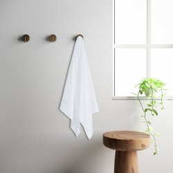 Welspun 1040954 White Quick Dry Cotton Bath Towel