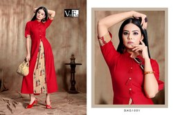 Vee Fab India Launch Crackles Rayon Print Exclusive Kurti Catlog Collection