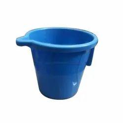 Plain Round Blue Plastic Mug