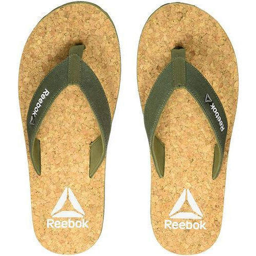 c5ed4732649 Reebok Mens Yellow Cork Flip-Flops House Slippers