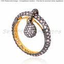 Diamond Tear Drop Ring