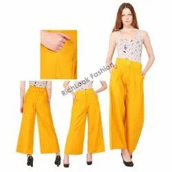 Regular Fit Women's Palazzo Pants For Girls