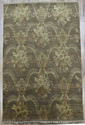 Hand Wooven Silk Rug - Brown For Bed-room