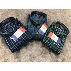 Mens Full Sleeves Cotton Check Shirts, Size: M, L, XL, XXL