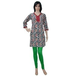Medium And Large 3/4th Sleeve Casual Ladies Kurti