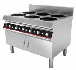 Six Burner Flat Induction Range
