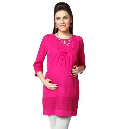 01793c441e73a Third Trimester & Beyond - Nine Maternity Tunic In Fushia Colour ...