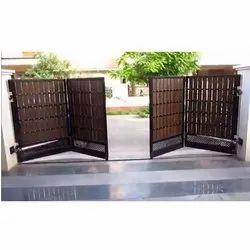 Mild Steel Black Swing Folding Gate, For Residential