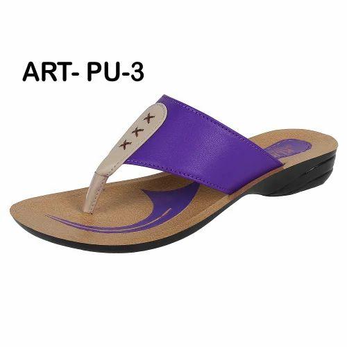 8d2a1abbd8284 Sporter Women/girls Purple Pu 3 V Shape Pu Slippers