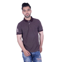 Trendy Purple Solid Polo Collar T-Shirt For Men