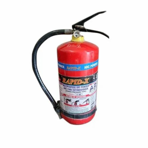 Rapid-X Mild Steel 4Kg Multipurpose Dry Powder Fire Extinguisher