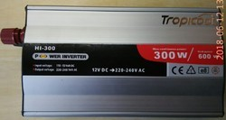300 W Tropicool DC AC Car Inverter, Model: HI-300, Output Frequency: 60 Hz
