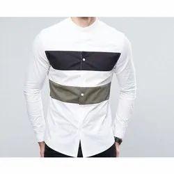 Men Linen Mens Full Sleeve Shirt, Machine wash