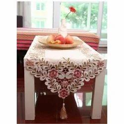 White Designer Table Runner