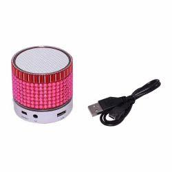 Zydeco S35U Bluetooth Speaker (White & Pink), Size: Small