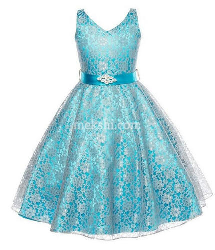 Nonsleeve Kids Long Lace Dress Children With Factory And Whole Sale Price In Tamilnadu