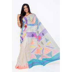 Party Wear Printed Ladies Handloom Tussar Saree, With Blouse Piece, 5.5 m (separate blouse piece)