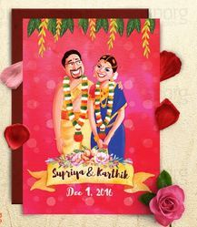 Chettinad South Indian Wedding Card - Sporg Studio, Chennai | ID ...