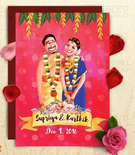 chettinad south indian wedding card - Indian Wedding Invitation Cards