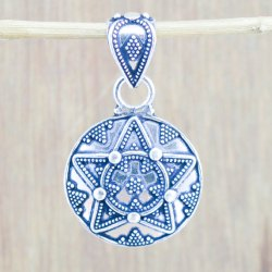 925 Sterling Silver Star Design Plain Silver Jewelry Pendant