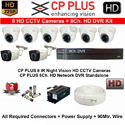 Cp Plus 1.3mp 8 Cctv Camera With 8channel Dvr Kit With All Accessories