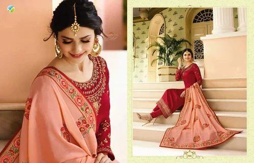 dc62111db0 Silk And Georgette Patiala Salwar Vinay Fashion Mumtaz Salwar Kameez ...