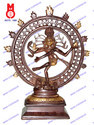 Natraj Dancing Double Ring Statue