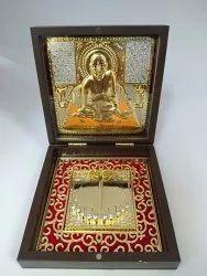 Swami Samarth Gold Plated Photo Frame Box