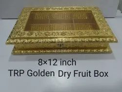 Golden Square Acrylic Transparent Wood Dry Fruit Box