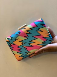 Printed Box Clutch Bag