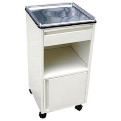 White Mild Steel Bedside Locker, Size: 405X405X810mm