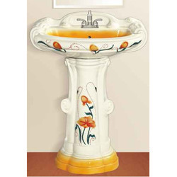 Printed Sterling Pedestal Wash Basin