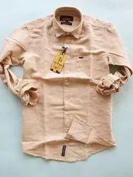 Multicolor Linen Men's Slub Shirt