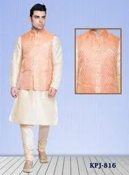 Mens Kurta Pajama with Nehru Jacket
