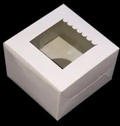 One Cupcake White Box With Window