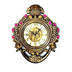 Mansagri Time And Gift Golden Decorative Acrylic Wall Clock