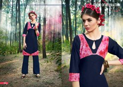 s More Crystal Series 2001-2008 Stylish Party Wear Cotton Kurti