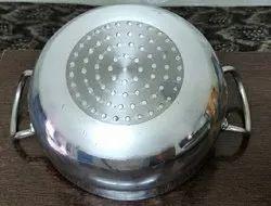 krishna Round Kadai Induction, For Kitchen, Size: 1-6