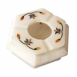 Marble Flower Design Ashtray