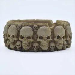 Skull Head Ash Trey Showpiece