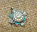 Turquoise, Coral, Gemstone Tibetan Silver Women Nepali Pendant