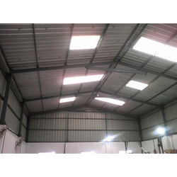 Cemented Roof Factory Sheds Fabrication Services