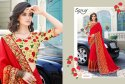 Fancy  Party Designer Embroidery Saree