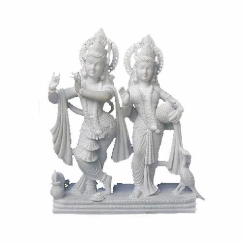 Tejasvi White Radha Krishna Marble Statue