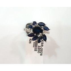 Blue Garnet 925 Sterling Silver Ring